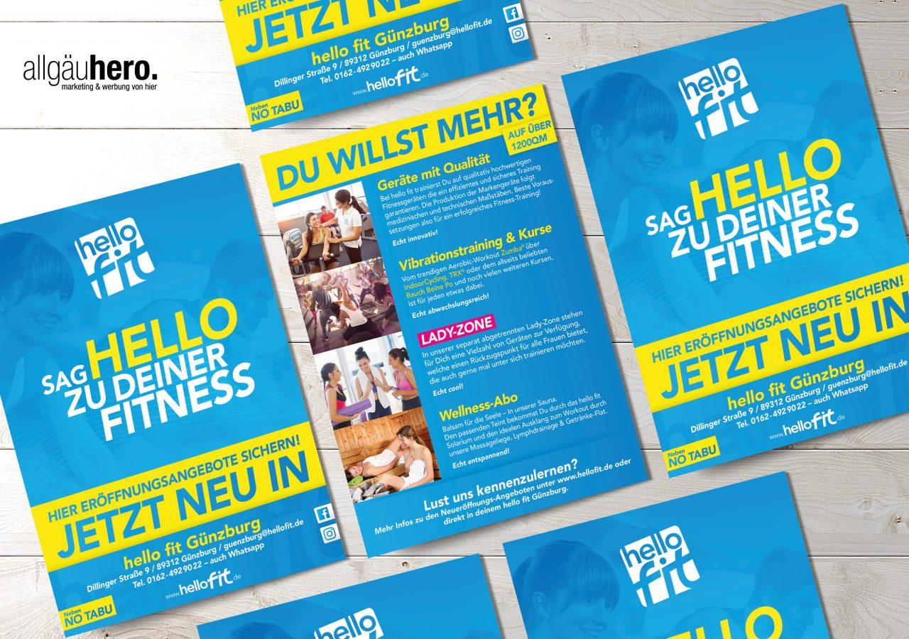 Referenz Allgäuhero Werbeagentur hello fit