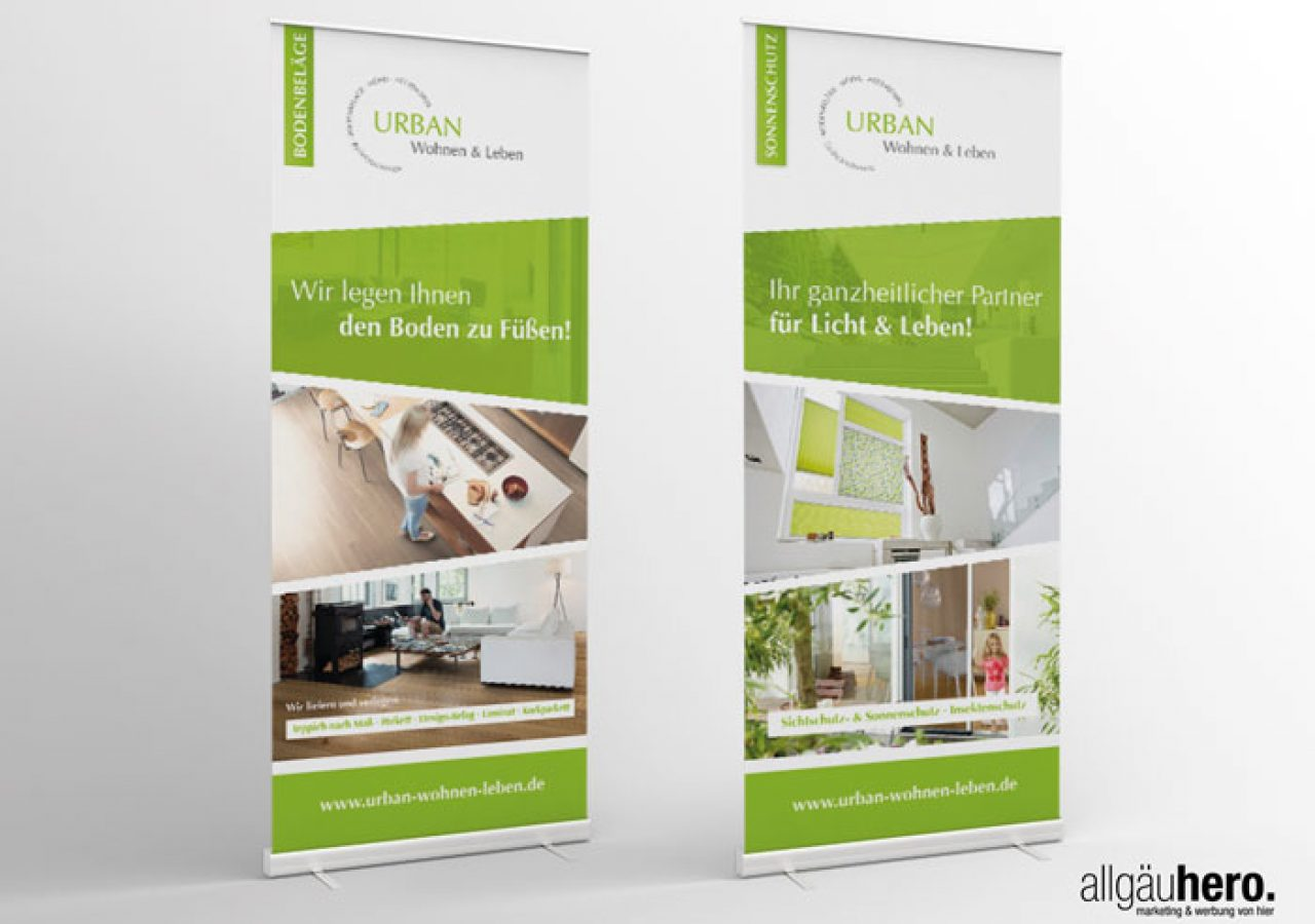 Referenz Allgäuhero Werbeagentur Urban Wohnen & Leben