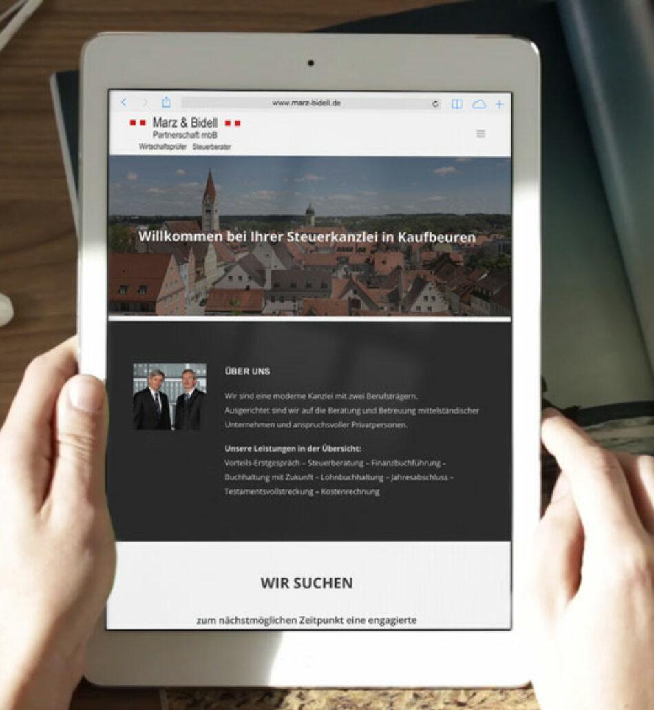 OnePage Website / Webvisitenkarte – Kundenzusammenfassung